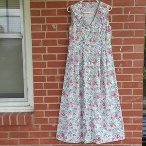 Vintage 60s handcrafted Floral dress, sz XS / 2